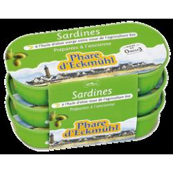Sardine huile olives 3x55g.