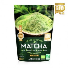 The vert bio matcha poudre