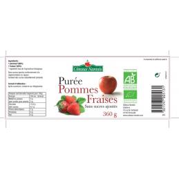 Puree pommes fraises 360g ct