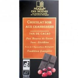 Chocolat noir cranberries