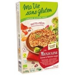 Galettes quinoa haricot rouge