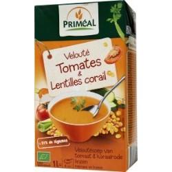 Veloute tomate & lentilles cor