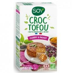Croque tofou curry pavot