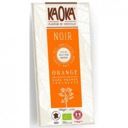 Kaoka chocolat noir/orange...