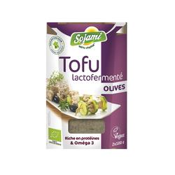 Tofu lactofermente aux olives
