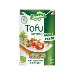 Tofu lactofermente au pesto