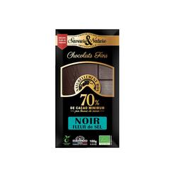 Tablette de chocolat noir . 70